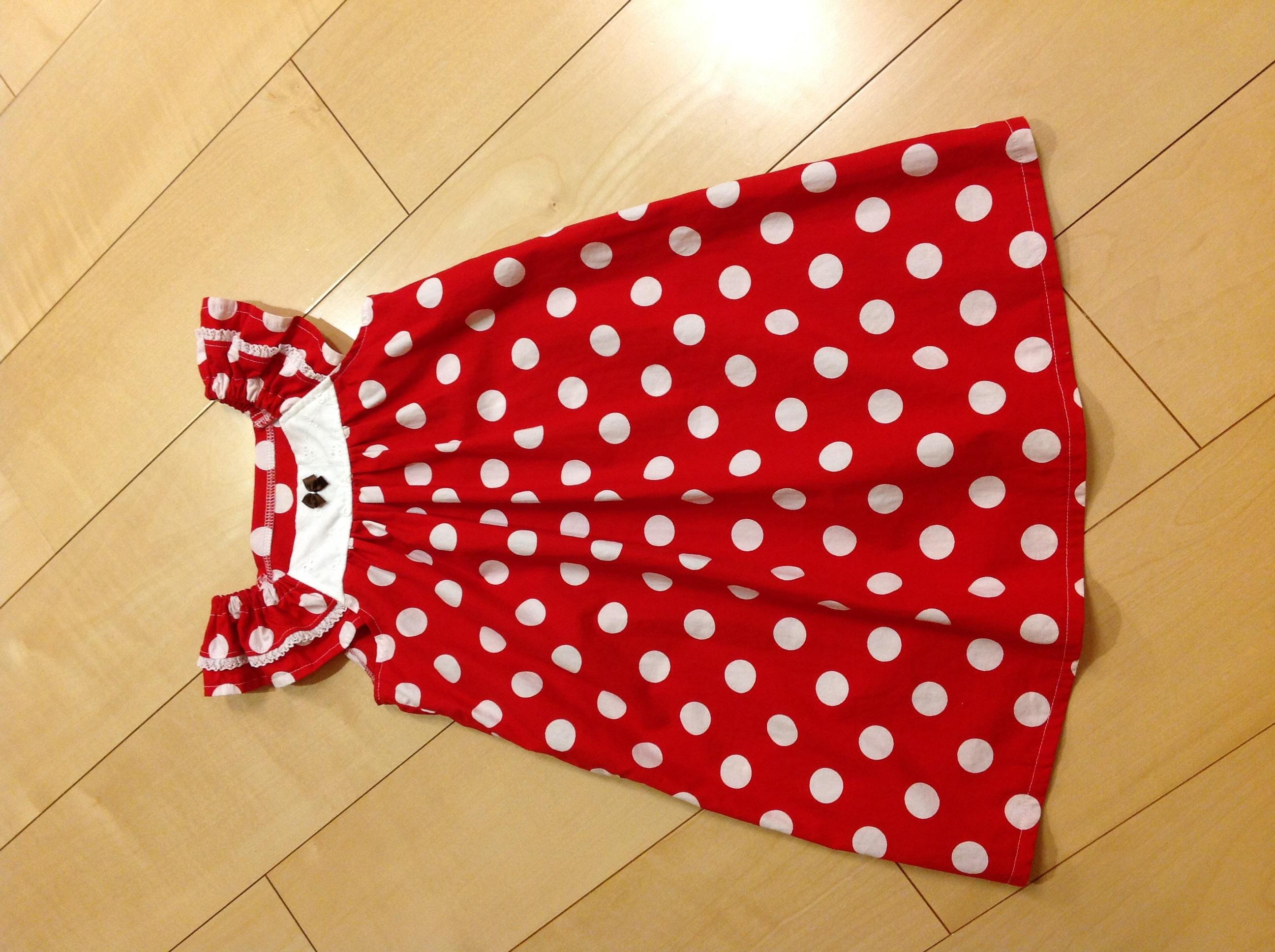 MahoeAnelaサマーワンピースでミニーちゃん服を作りました。